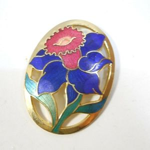 Jewelry - Gold Tone Metal Tulip Pin Brooch Flower